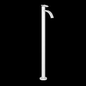 Floor Mounted Single Lever Basin Mixer-White Matt