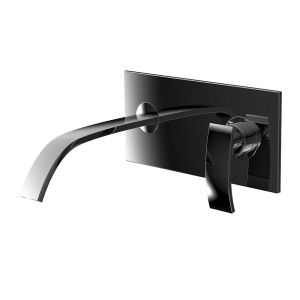 Single Lever In-wall Basin Mixer-Black Chrome