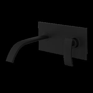 Single Lever In-wall Basin Mixer-Black Matt