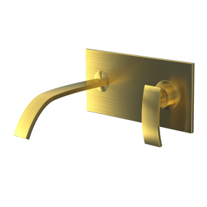 Single Lever In-wall Basin Mixer-Gold Dust