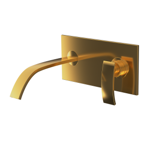 Single Lever In-wall Basin Mixer-Full Gold