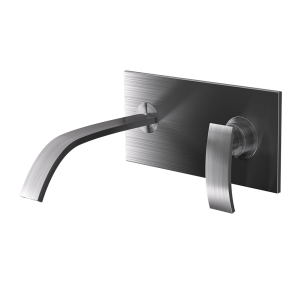 Single Lever In-wall Basin Mixer-Stainless Steel