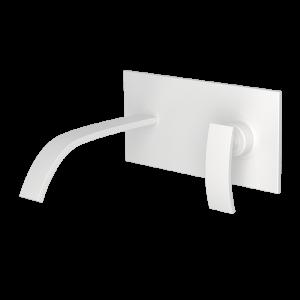 Single Lever In-wall Basin Mixer-White Matt