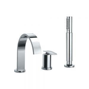 3-Hole Bath & Shower Mixer-Chrome