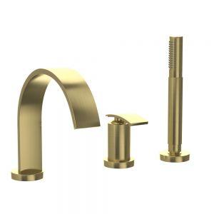 3-Hole Bath & Shower Mixer-Gold Dust