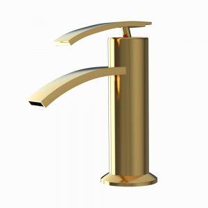 Single Lever Basin Mixer-Full Gold