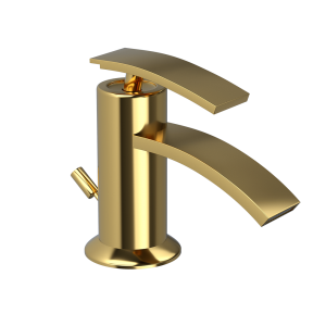 Single Lever Bidet Mixer with Popup Waste-Full Gold