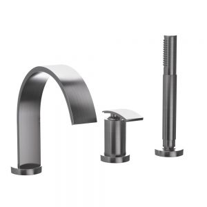 3-Hole Bath & Shower Mixer-Stainless Steel