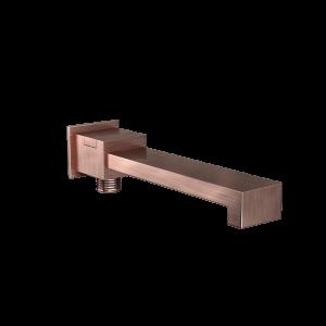Bath Spout with Diverter & Wall Flange-Antique Copper