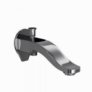 Tiaara Bath Spout with Diverter-Black Chrome