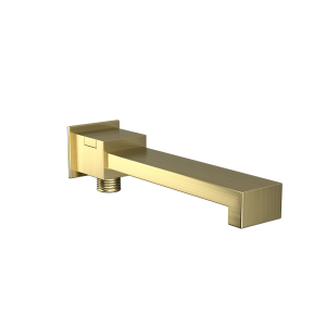 Bath Spout with Diverter & Wall Flange-Gold Dust