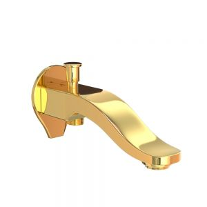 Tiaara Bath Spout with Diverter-Full Gold