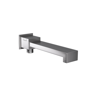 Bath Spout with Diverter & Wall Flange-Stainless Steel