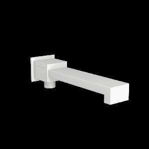 Bath Spout with Diverter & Wall Flange-White Matt