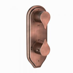 In-wall Thermostatic Shower Valve with 5-Way Diverter-Antique Copper