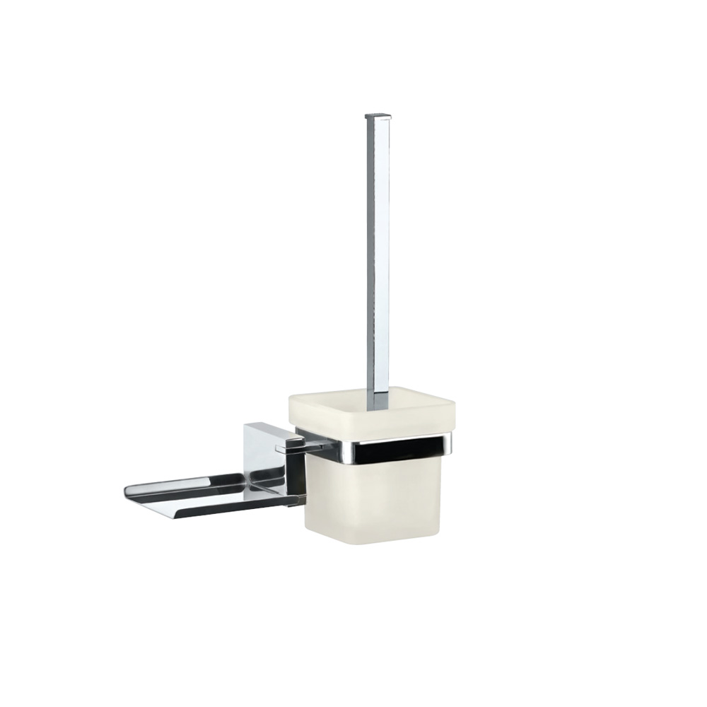 Toilet Brush Holder with Shelf