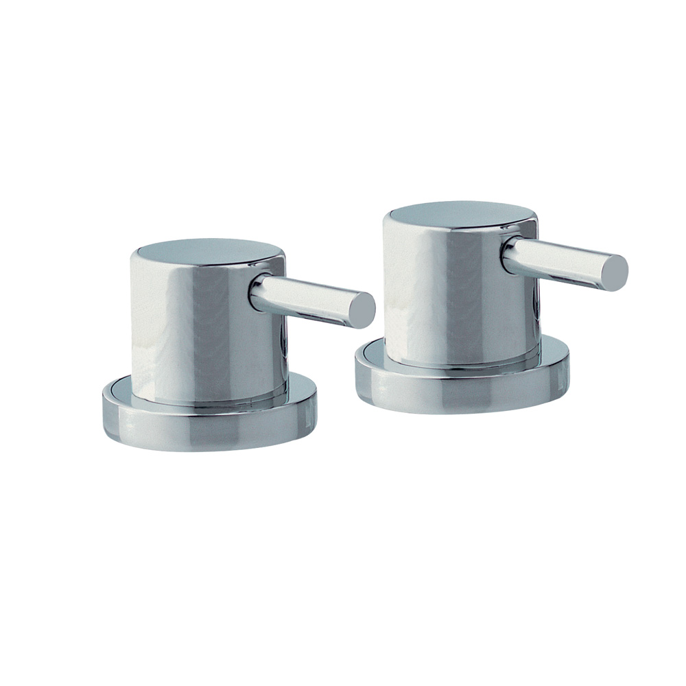 Pair of Deck Mounted Stop Valves
