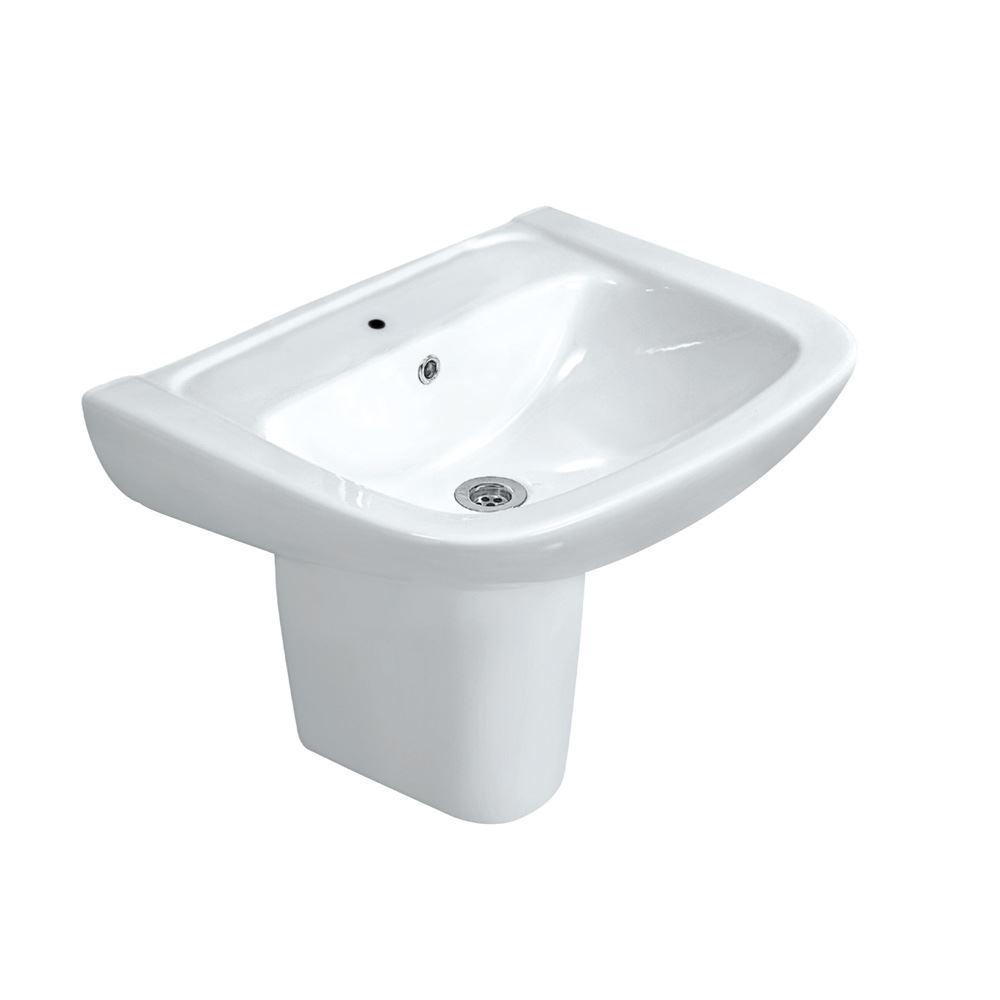 Wash Hung Basin with Half Pedestal