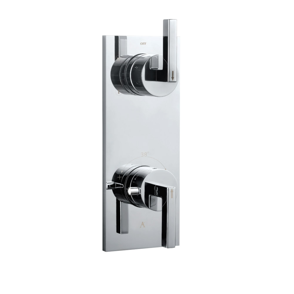 In-wall Thermostatic Shower Valve with 2-Way Diverter