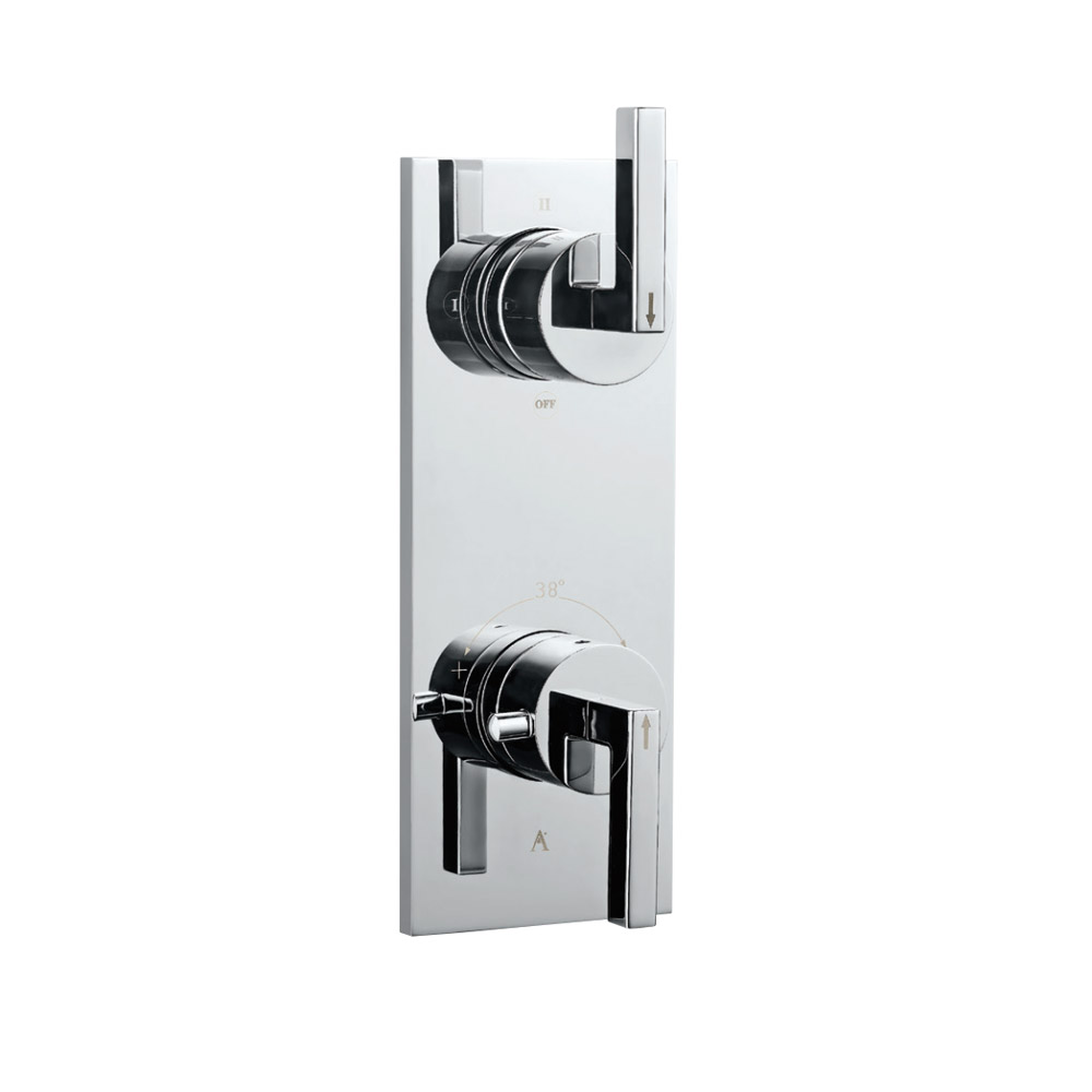 Linea In-Wall Thermostatic Shower Valve with 3-Way Diverter