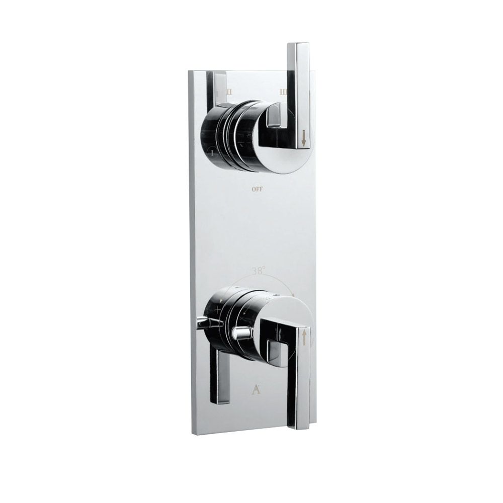 In-wall Thermostatic Shower Valve with 5-Way Diverter