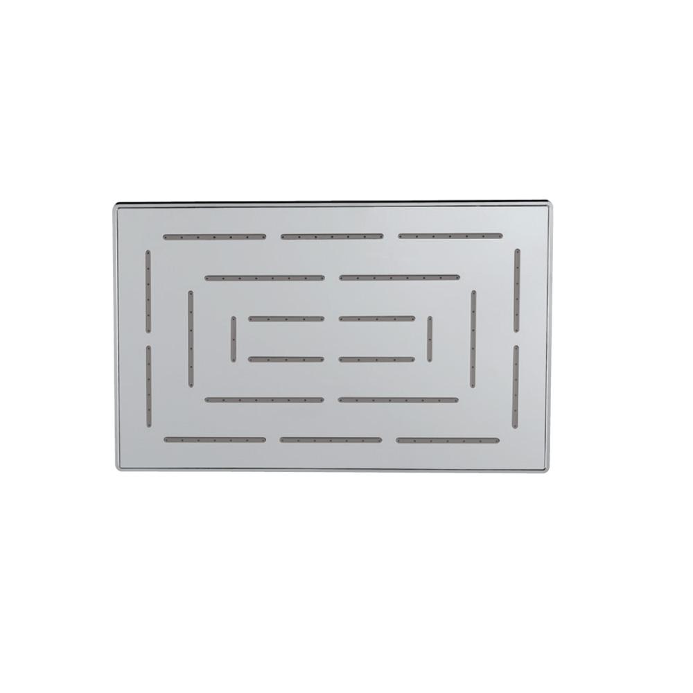 Maze Single Function 190X295mm Rectangular Showerhead
