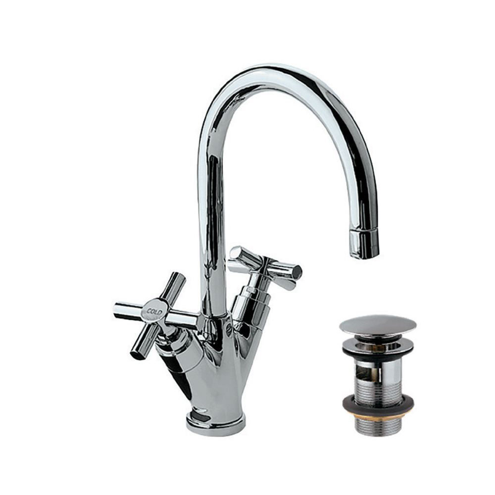Mono Basin Mixer with Curved Spout